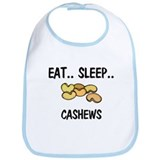 Eat ... Sleep ... CASHEWS Bib