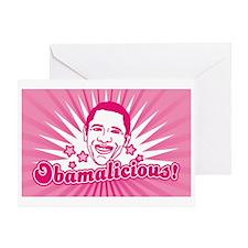 Pink Obamalicious Greeting Card