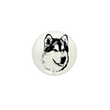 Alaskan Malamute Face Mini Button (100 pack)