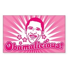 Pink Obamalicious Rectangle Decal