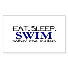 Eat Sleep Swim Rectangle Decal