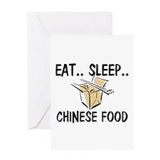 Eat ... Sleep ... CHINESE FOOD Greeting Card