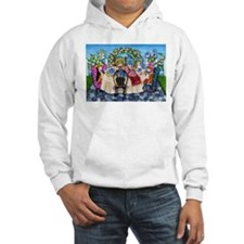 Corgi Tea In The Rose Garden Hoodie