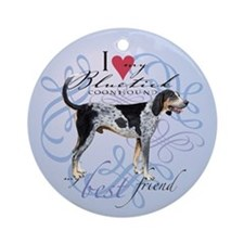 Bluetick Coonhound Ornament (Round)