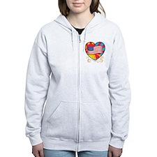 American Heart Zip Hoodie