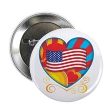 """American Heart 2.25"""" Button (100 pack)"""