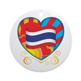 Thai Heart Ornament (Round)