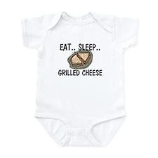 Eat ... Sleep ... GRILLED CHEESE Infant Bodysuit