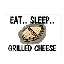 Eat ... Sleep ... GRILLED CHEESE Postcards (Packag