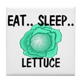 Eat ... Sleep ... LETTUCE Tile Coaster