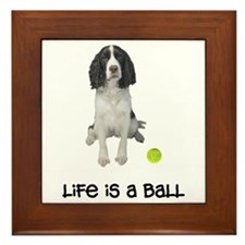 Springer Spaniel Life Framed Tile