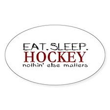 Eat Sleep Hockey Oval Decal