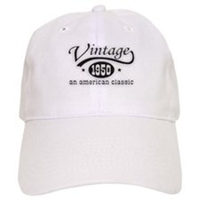 Vintage 1950 Birthday Baseball Cap