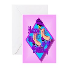 4th Birthday Greeting Cards (Pk of 10)