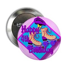 "4th Birthday 2.25"" Button (10 pack)"