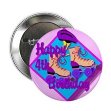 4th Birthday Button