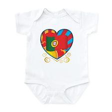 Portugese Heart Infant Bodysuit