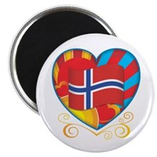 "Norwegian Heart 2.25"" Magnet (100 pack)"