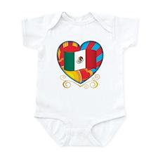 Mexican Heart Infant Bodysuit