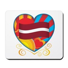 Latvian Heart Mousepad