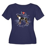 Catahoula Leopard Dog Women's Plus Size Scoop Neck