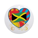 Jamaican Heart Ornament (Round)