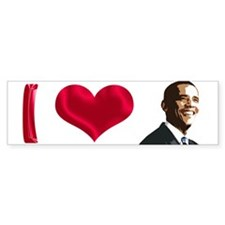 I Love Obama Bumper Bumper Sticker