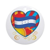 Honduran Heart Ornament (Round)