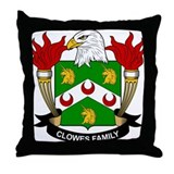Clowes Family Crest Throw Pillow