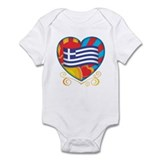 Greek Heart Infant Bodysuit