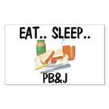 Eat ... Sleep ... PB&J Rectangle Decal