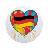 German Heart Ornament (Round)