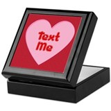 Text Me Valentine Heart Keepsake Box