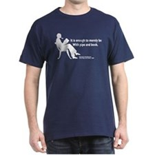 With Pipe and Book T-Shirt