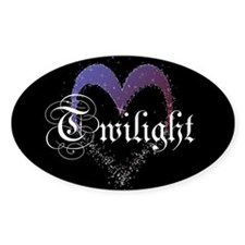 Twilight Sparkle Heart Oval Decal