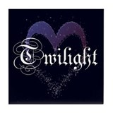 Twilight Sparkle Heart Tile Coaster