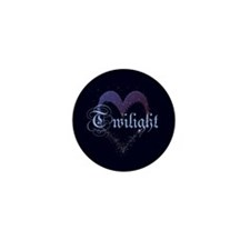Twilight Sparkle Heart Mini Button (100 pack)