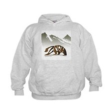 Zach (Brown Bear in Mountains) Hoodie