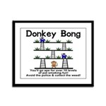 Donkey Bong Framed Panel Print