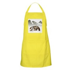 Zach (Brown Bear in Mountains) BBQ Apron