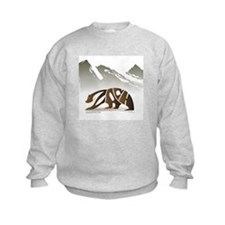 Zach (Brown Bear in Mountains) Sweatshirt