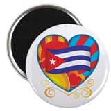 "Cuban Heart 2.25"" Magnet (10 pack)"