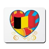 Belgian Heart Mousepad