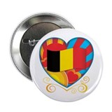 "Belgian Heart 2.25"" Button"