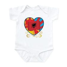 Albanian Heart Infant Bodysuit