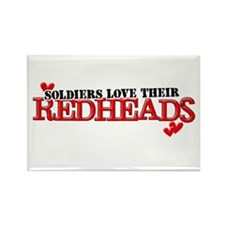 Soldiers love their redheads Rectangle Magnet