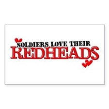 Soldiers love their redheads Rectangle Decal