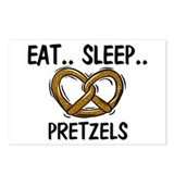 Eat ... Sleep ... PRETZELS Postcards (Package of 8