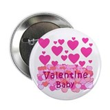 "Pink Hearts Valentine Baby 2.25"" Button (10 pack)"