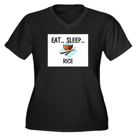 Eat ... Sleep ... RICE Women's Plus Size V-Neck Da